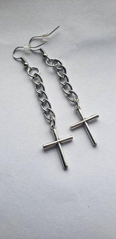 Cross Earrings Gothic Cross Earrings Dangle Summer Sale Gifts For Her Cross Jewelry Simple Earrings