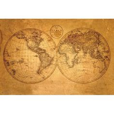 Old world map posters backpiece pinterest map globe bricks old world map posters backpiece pinterest map globe bricks and walls gumiabroncs Images