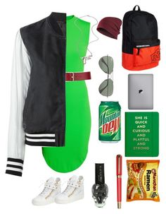 Mountain dew by goldnpurplegun66 on Polyvore featuring polyvore fashion style H&M Avelon Giuseppe Zanotti Erica Anenberg Valentino Ray-Ban Kate Spade Olympia sOUP clothing