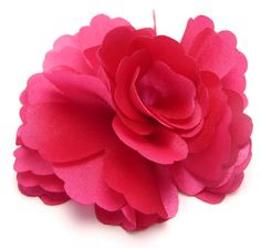 Shocking pink hair flower 595 liked on polyvore featuring silk flower hot pink mightylinksfo