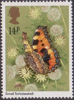 Butterflies 14p Stamp (1981) Aglais Urticae  Small Tortoiseshell