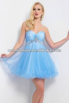 Light Blue Short Prom Dresses | line sweetheart taffeta short ...