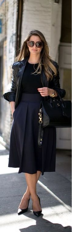 black-navy chic