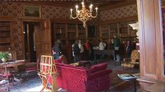The library at Lyme Park