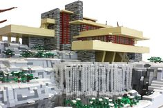 """Frank Lloyd Wright's """"Falling Water House"""" created in LEGO's by Matija Grguric"""