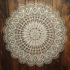 Doily crochet doily round crochet Light beige doily Crocheted