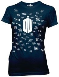 Dr Who Tally Marks Tardis Doctor Licensed Adult T Shirt Mens Tee s Doctor Who T Shirts, New Doctor Who, Doctor Who Tardis, Eleventh Doctor, Tardis Costume, Poster Art, Vintage Poster, Don't Blink, Thing 1