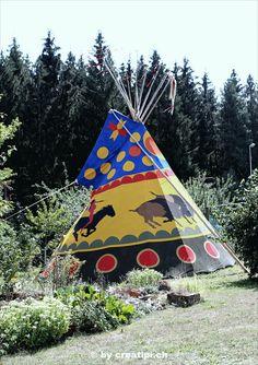 6,5 m Blutmond-Büffeltipi Fair Grounds, Fun, Atelier, Blood Moon, Teepee Tent, North America, Native Americans, Outdoor Camping, Hilarious