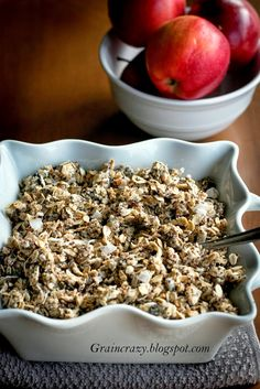 Grain Crazy: Clumpy Raw Granola with Chia. A fun breakfast or snack. Tastes like cookie dough.