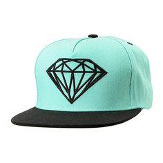 Diamond Supply Co Brilliant Mint Black Snapback Hat ( 40) ❤ liked on  Polyvore featuring 7c362c47e7c