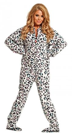 """""""Funky Cheetah"""" adult onesie. There are so many layers of wrong going on here that I cannot begin to describe them without destroying my soul."""
