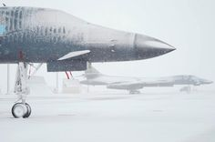 Wintertime at Dyess AFB, Texas.