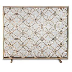 Neo Classic Brass Fireplace Screen | Brass fireplace screen ...