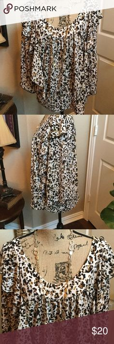 Selling this Awesome Fall Leapord Print Top on Poshmark! My username is: langfordlove. #shopmycloset #poshmark #fashion #shopping #style #forsale #New Directions #Tops