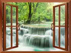 Waterfall in Thailand High Quality Removable by Wall26WebStore