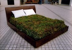 The grass bed. Could you spend a night in this?