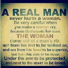 This is how guys should be raised! Thankfully I was raised this way.