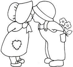 A GAIVOTA ARTESANATOS Filial 04: Riscos Bonecas, anjos, meninas- Patchwork embutido - Pintura em tecido