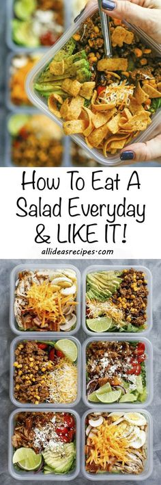 "How To Eat Salad Every Day And Like It! - ""How to eat salad every day and LIKE it!"" aka ""The Fritos Every Day Diet."" Find the best salad recipes in one place with salad making and…"