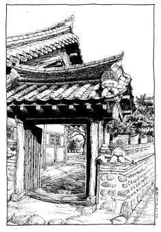hanok sketch - Google 검색
