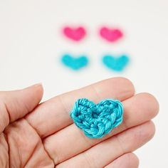 Tiny Crochet heart pattern. Perfect for all sorts of projects.