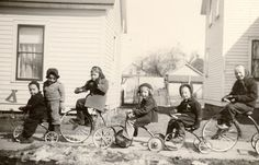 Newberry Kids on Tricycles by