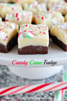 Candy Cane Fudge - Easy, no fail fudge perfect for Christmas!