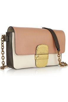 Marc JacobsBrighton Rose leather and python shoulder bag