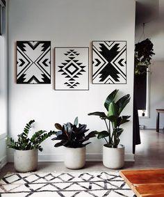 3 Piece Wall Art, Wall Art Sets, Diy Wall Art, Wall Art Decor, Wall Décor, Wall Art Boho, Nursery Decor, Fabric Wall Decor, Mosaic Wall Art