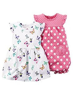 Baby Girl 2-Piece Butterfly Dress   Romper Set 267ddce6fff