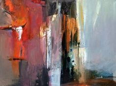 "Between Worlds-Abstract Painting by Joan Fullerton Acrylic ~ 30"" x 40"""