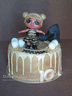 Doces Opções: Bolo de aniversário LOL Surprise Queen Bee Lol, Bolo Fresco, Ailee, Chocolate, Red Velvet, Snow Globes, Birthday Cake, Queen, Party