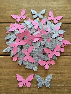 Brighten up and complete your party decor with this beautiful Butterfly Confetti in Pink and Silver Glitter. Made from high quality cardstock. Pink is double sided, glittery on the front. Silver Glitter is one sided, white on the back. Perfect for a baby shower or little girls