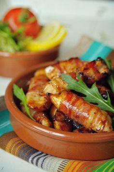 """Het lekkerste recept voor """"Baconrolletjes met zoete kip"""" vind je bij njam! Ontdek nu meer dan duizenden smakelijke njam!-recepten voor alledaags kookplezier!"""