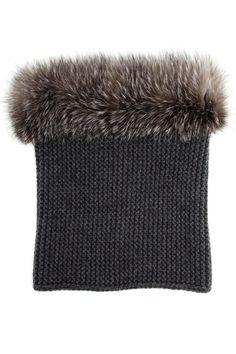 Inverni Cashmere and Fox Fur Circle Scarf, $798; brownsfashion.com