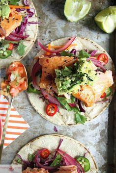 delicious-designs:  Asian Salmon Tacos