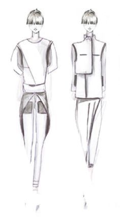 Fashion Sketchbook - modern tailoring; fashion design sketches; fashion portfolio // Aylin Kiral