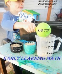 Adventures at home with Mum: Barley Measurement - Early Math Play Tub
