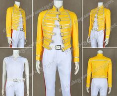 Queen Band Cosplay Lead Vocals Freddie Mercury Costume Fashionable Jacket Cool   eBay