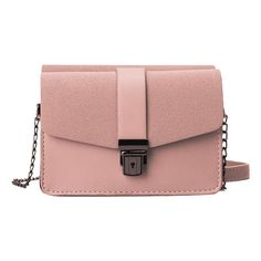 Chain Faux Leather Double Side Crossbody Bag Pink ($30) ❤ liked on Polyvore featuring bags, handbags, shoulder bags, pink crossbody, pink purse, crossbody shoulder bag, pink cross body purse and pink crossbody purse