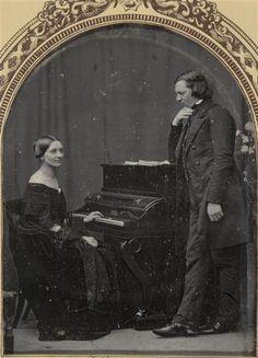 Robert et Clara Schumann, vers 1850