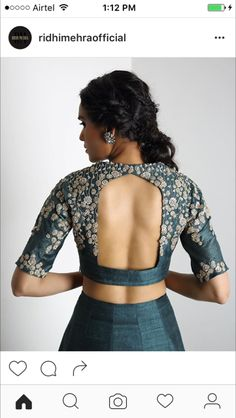 Amazing Latest Elegant Sari Blouse Click visit link above to find out more - Saree Blouses Blouse Back Neck Designs, Best Blouse Designs, Sari Blouse Designs, Blouse Styles, Sari Bluse, Blouse Designs Catalogue, Indie Mode, Saree Blouse Patterns, Lehenga Blouse