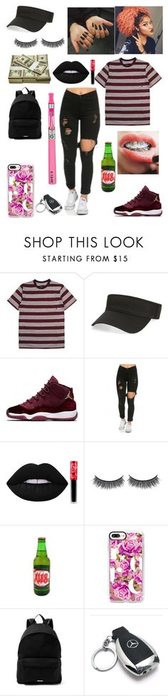 """""""Untitled #495"""" by miss-lelee-swagg ❤ liked on Polyvore featuring Brixton, American Needle, Lime Crime, Battington, Casetify, Givenchy and Mercedes-Benz"""