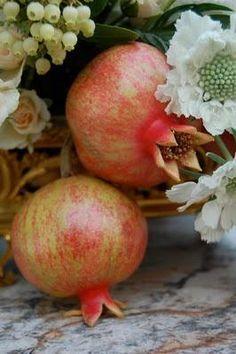 Granadas. Objetos o representaciones de esta fruto, ayudan a concebir hijos si se colocan en el Oeste del cuarto