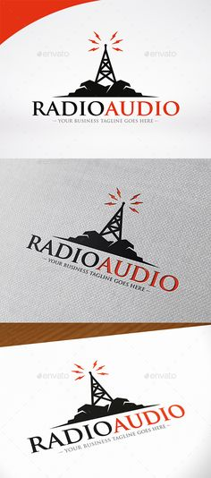 Radio Station Logo Template Vector EPS, AI Illustrator. Download here: https://graphicriver.net/item/radio-station-logo-template/12513305?ref=ksioks