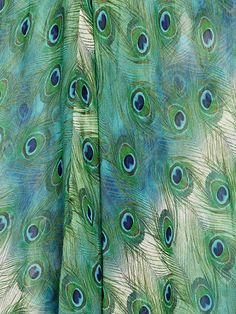peacock curtain