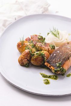 This simple sous vide salmon recipe shows off the power of cooking in a water bath, giving the salmon a perfectly tender finish.