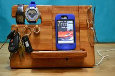 iPhone Dock iPhone Stand, iPhone Docking Station Apple Watch Samsung Galaxy Nexus Samsung Galaxy Note Android Phones by MasterWorks888 on Etsy https://www.etsy.com/listing/181454484/iphone-dock-iphone-stand-iphone-docking