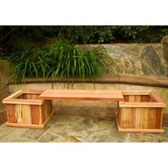 Hollis Wood Products 83 in. Red-Wood Planter Bench Kit-12011 at The Home Depot