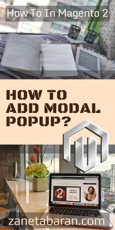 Learn how to add modal popup which opens after clicking the link in Magento 2 project. Easy and detailed tutorial for every frontend developer. Store Online, Popup, Web Development, Ecommerce, Ads, Projects, Log Projects, Blue Prints, E Commerce